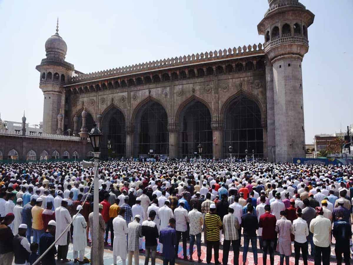 Hyderabad: Arrangements completed for Eid-ul-Adha prayers at Eidgahs, mosques