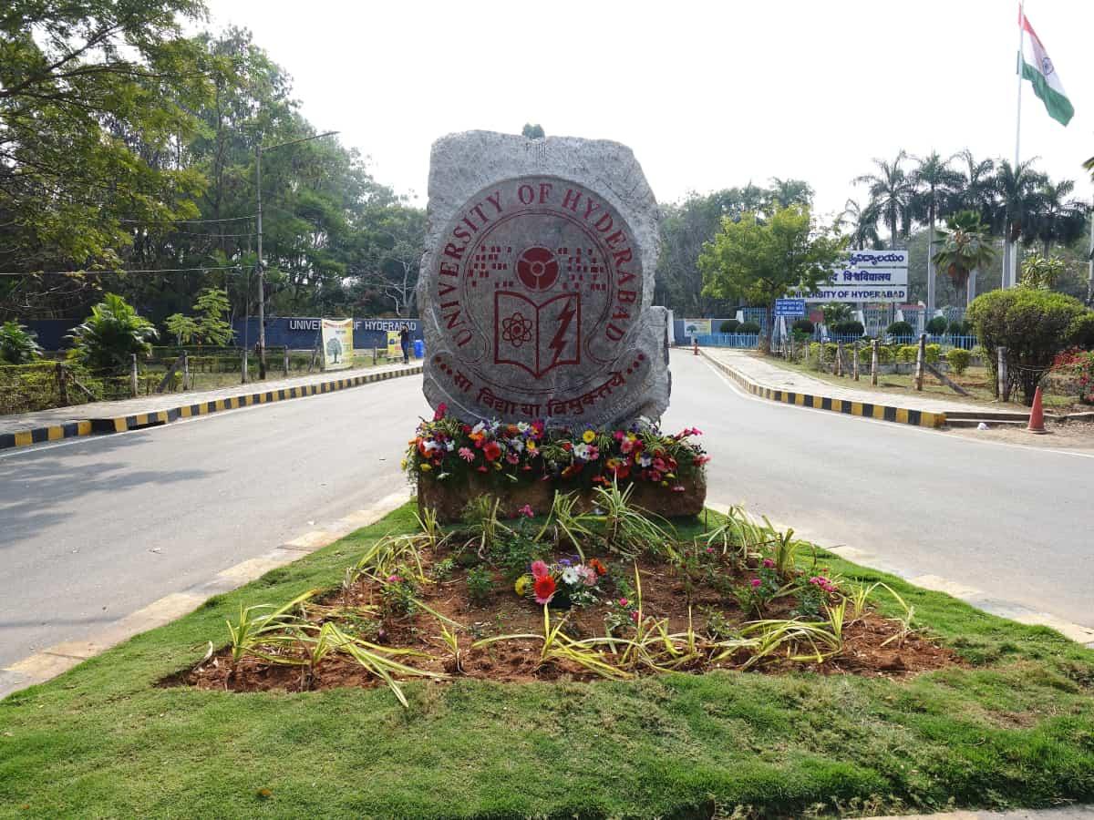 University of Hyderabad entrance examination from September 3