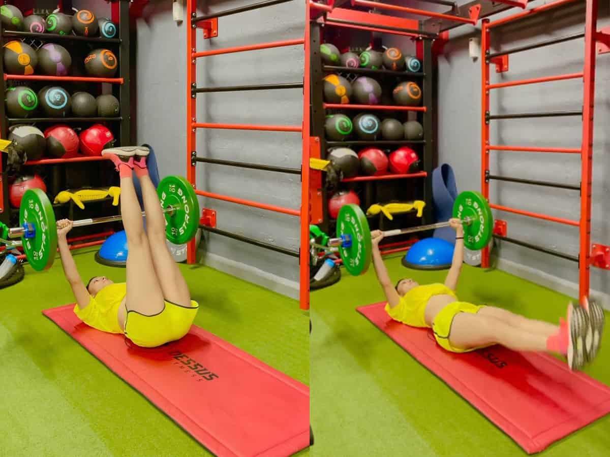 Urvashi Rautela offers glimpse into her Sunday workout