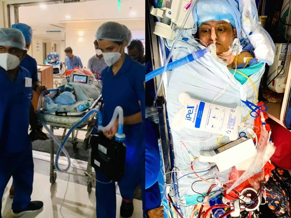 UP doctor airlifted to Hyderabad for lung transplant