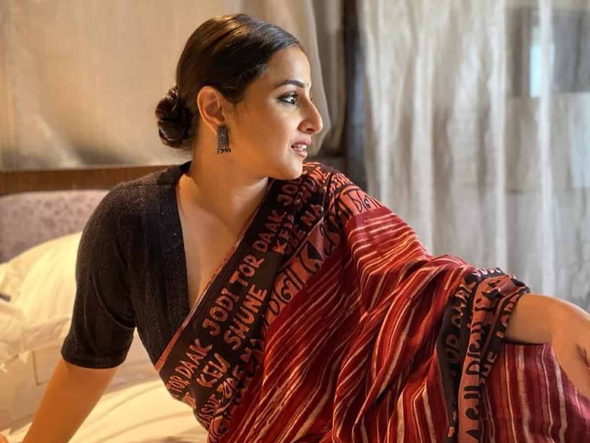'I am told I am knotty' : Vidya Balan's latest post is sheer elegance!