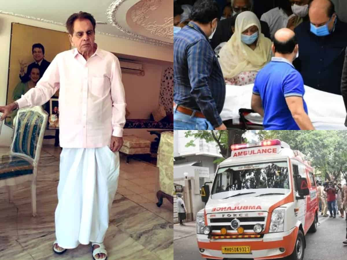 Dilip Kumar's body taken home [Pictures, videos]