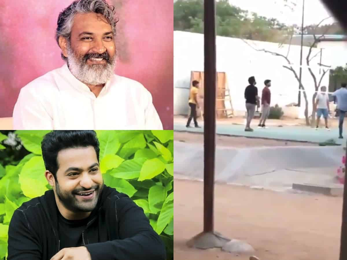 Jr NTR, Rajamouli spotted playing volleyball, video goes viral