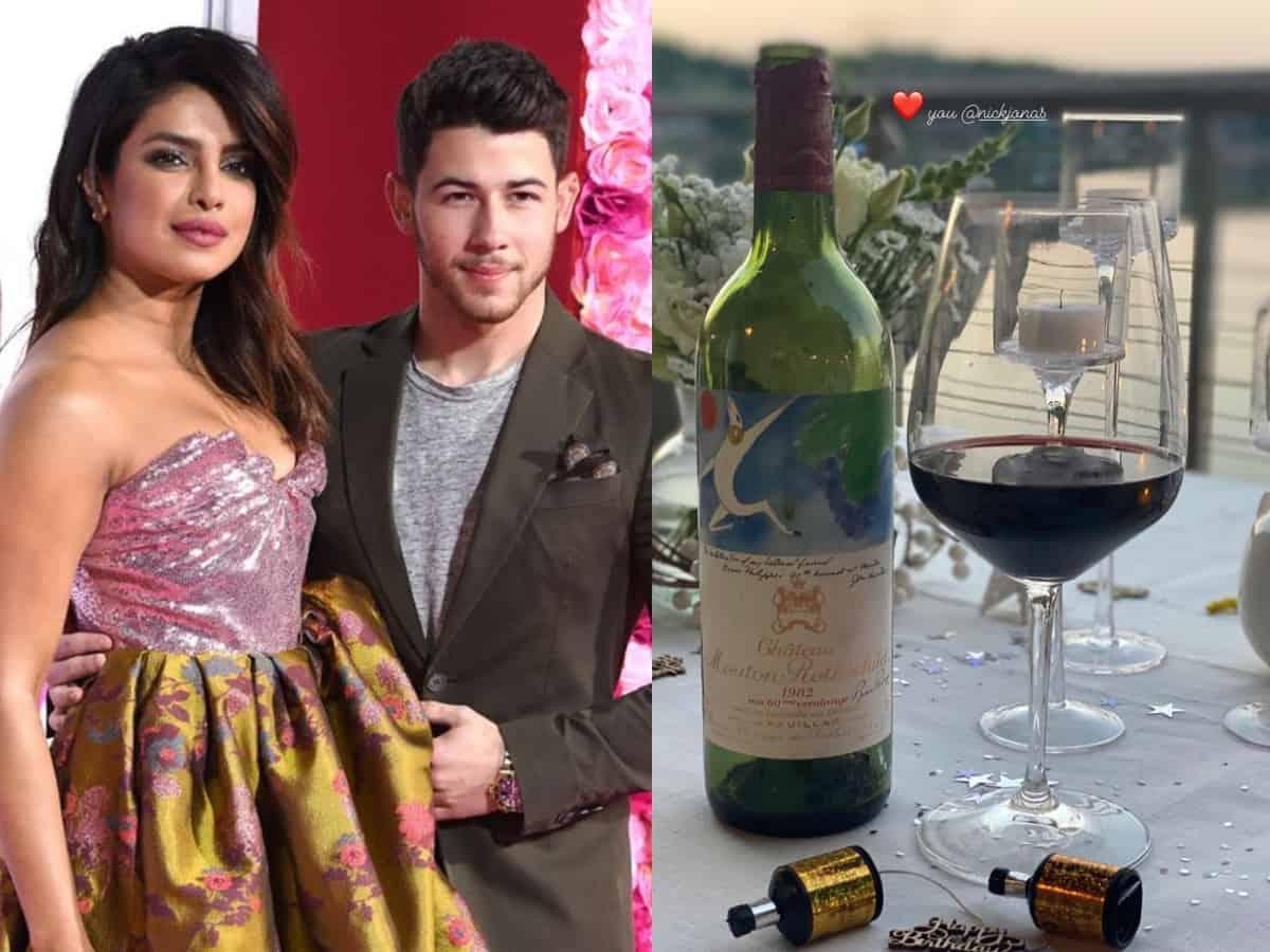 Nick Jonas gifts Rs 1 lakh wine bottle to Priyanka on her birthday