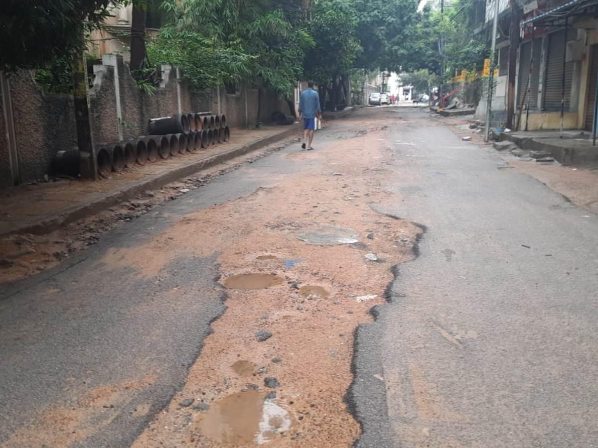 Rainfall in Hyderabad turns dug-up roads into potential danger zones