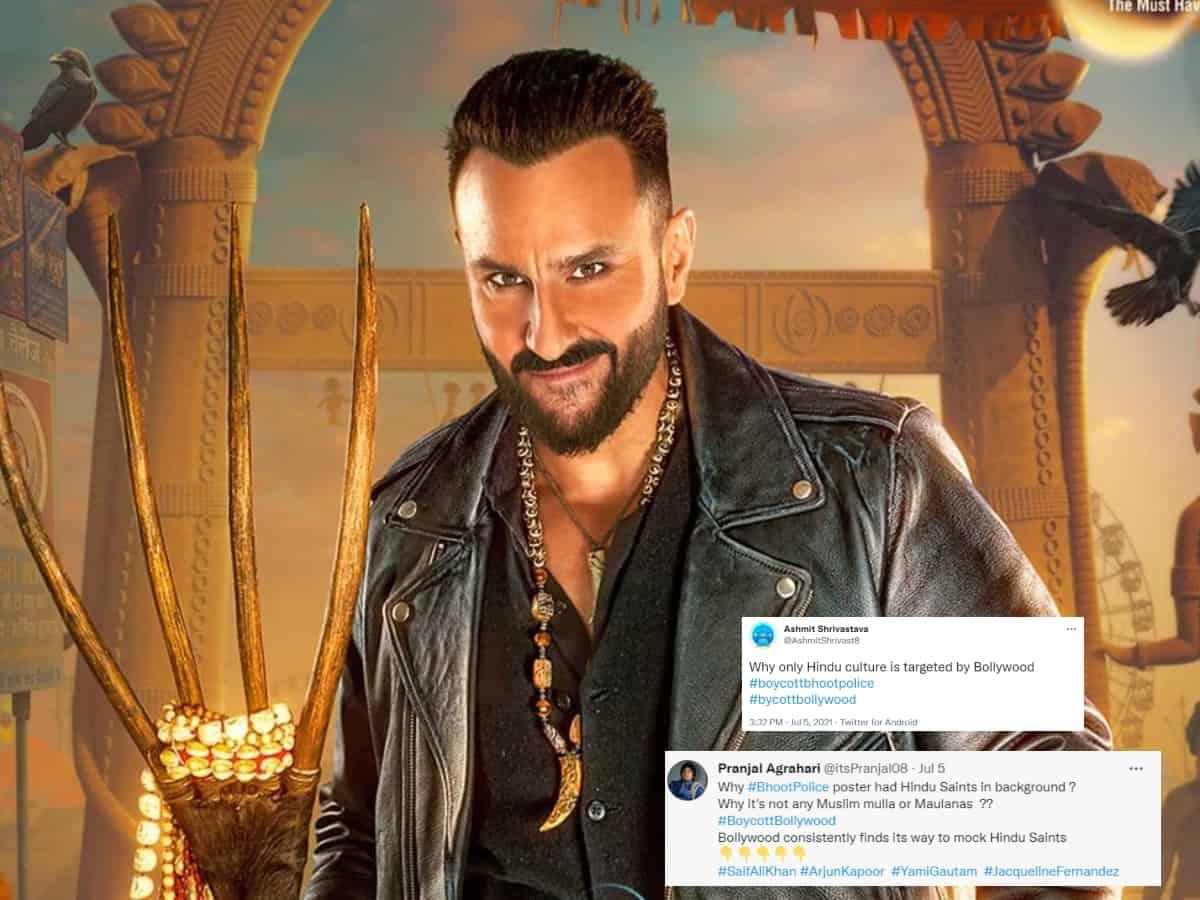Saif Ali Khan targeted yet again as 'Bhoot Police' poster demeans Hindu gods