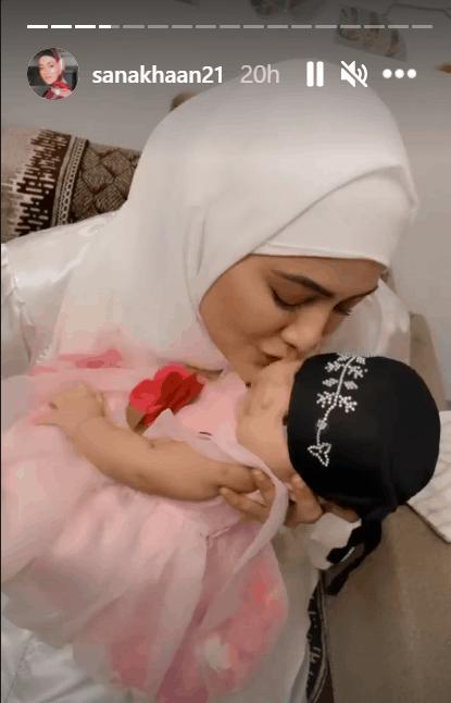 Trending photos: Sana Khan with newborn, RGV shares his first love & more