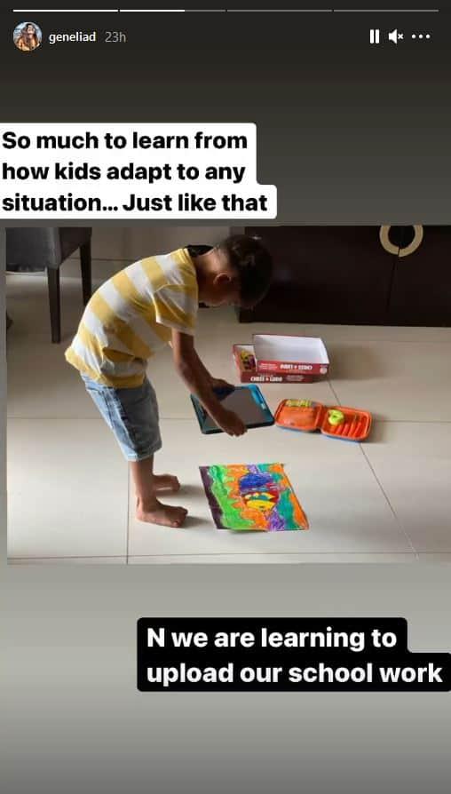 Genelia Deshmukh seeks inspiration from her children amid COVID-19 pandemic