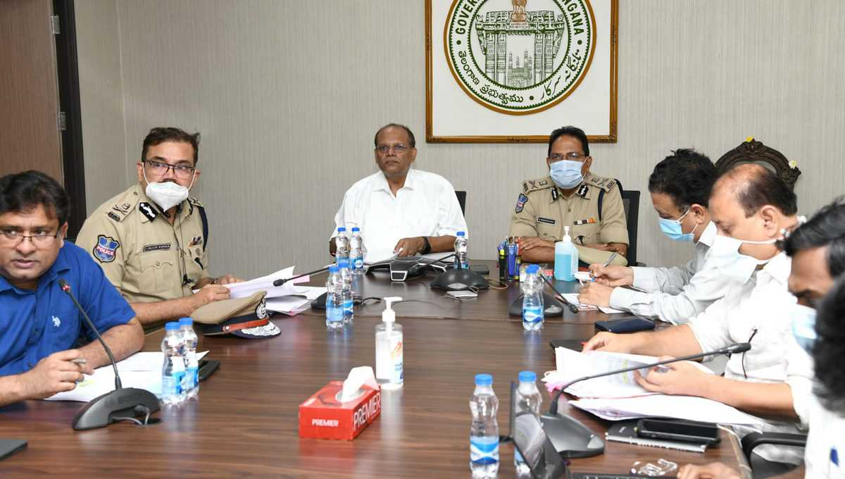 Review meeting held in view of IMD's heavy rain warning for Telangana