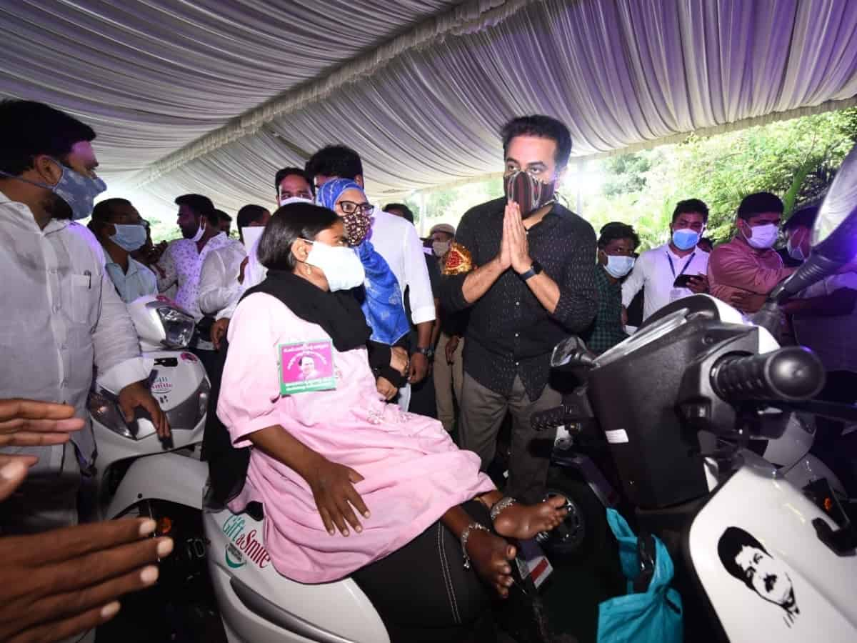 KTR hands over 250 custom-made vehicles to differently-abled