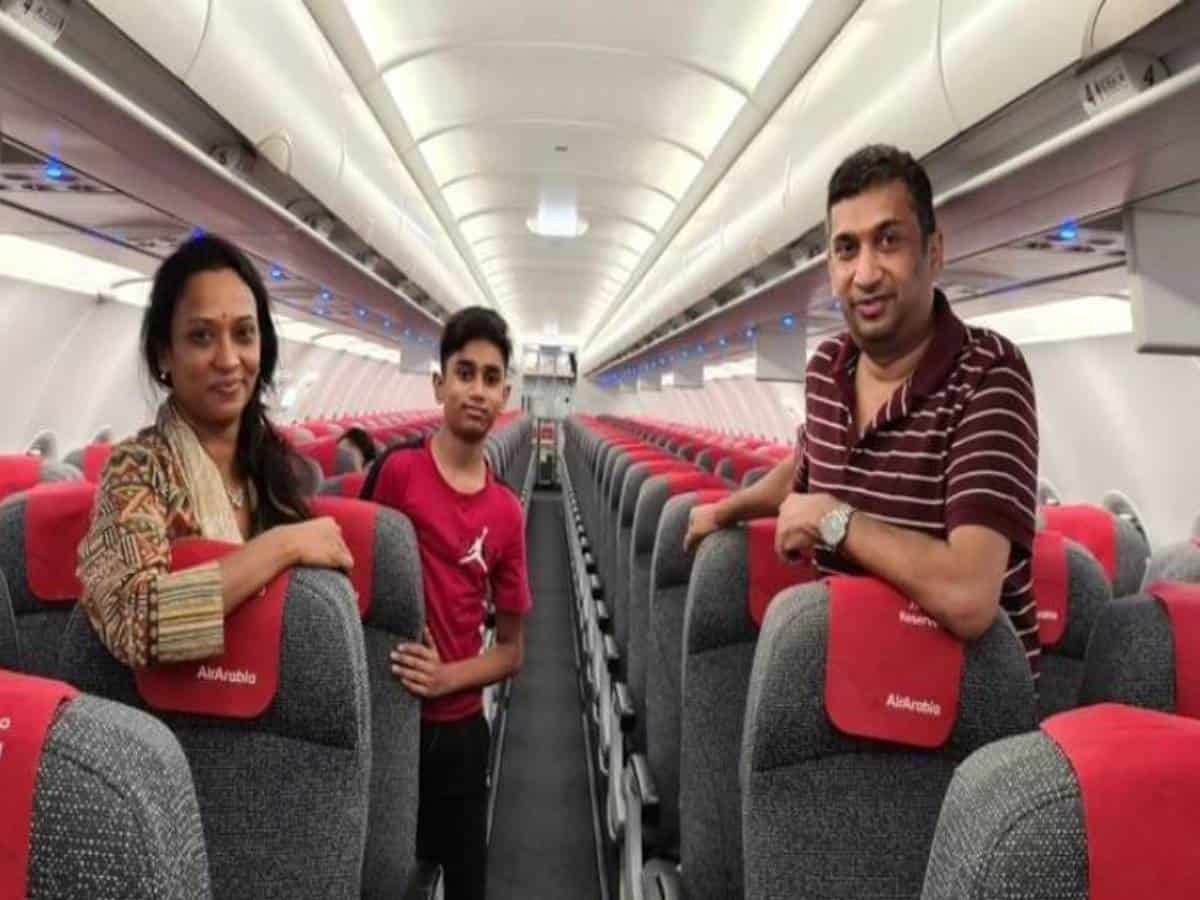 NRI family of 3 were only passengers on plane from Hyderabad to Sharjah