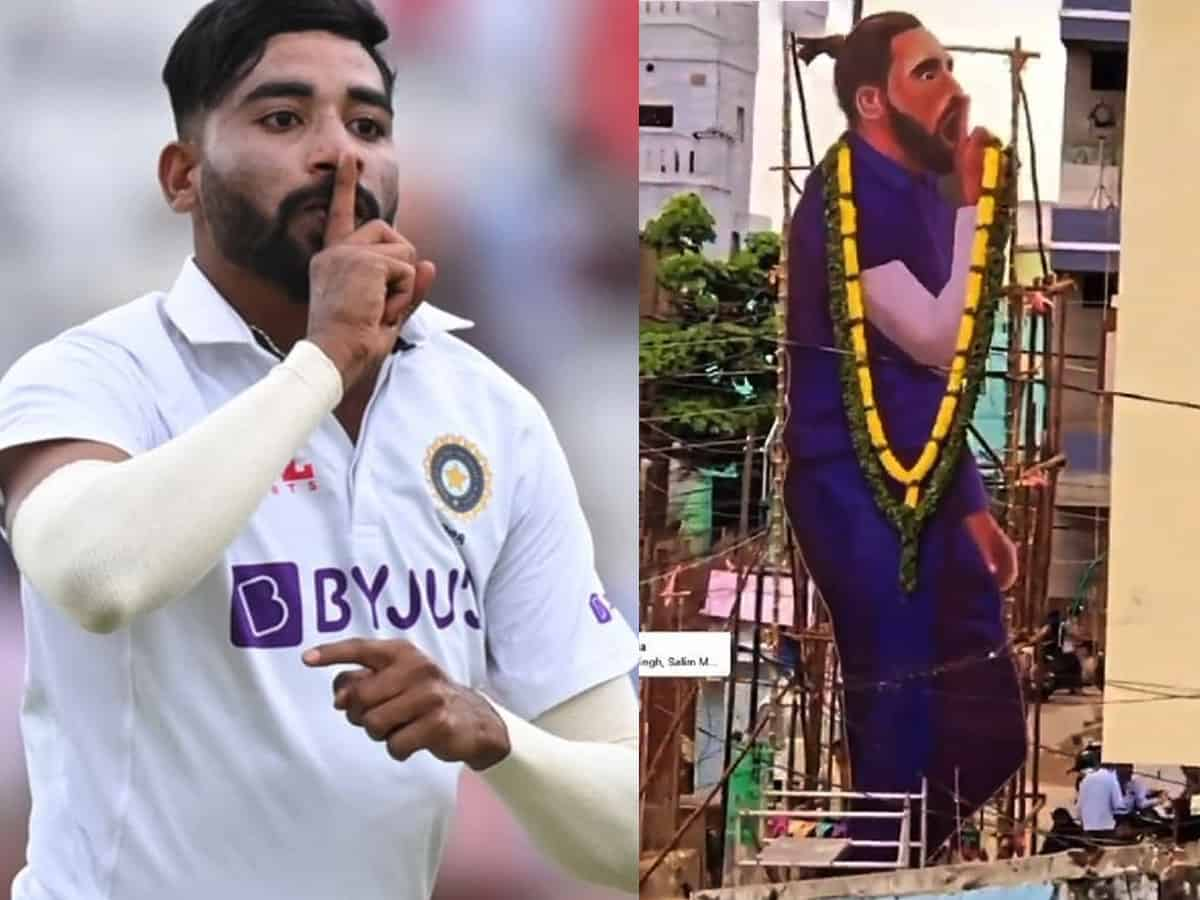 Siraj's 'finger on the lips' celebration gets a cut out from his Hyderabadi neighbours
