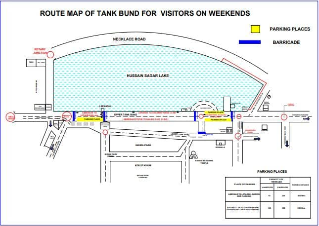 Check alternate routes to avoid Tank Bund route on Sunday evening