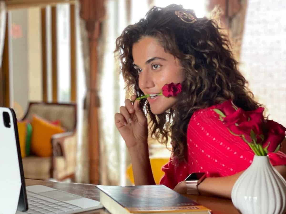Taapsee Pannu shares a glimpse from 'Blurr'