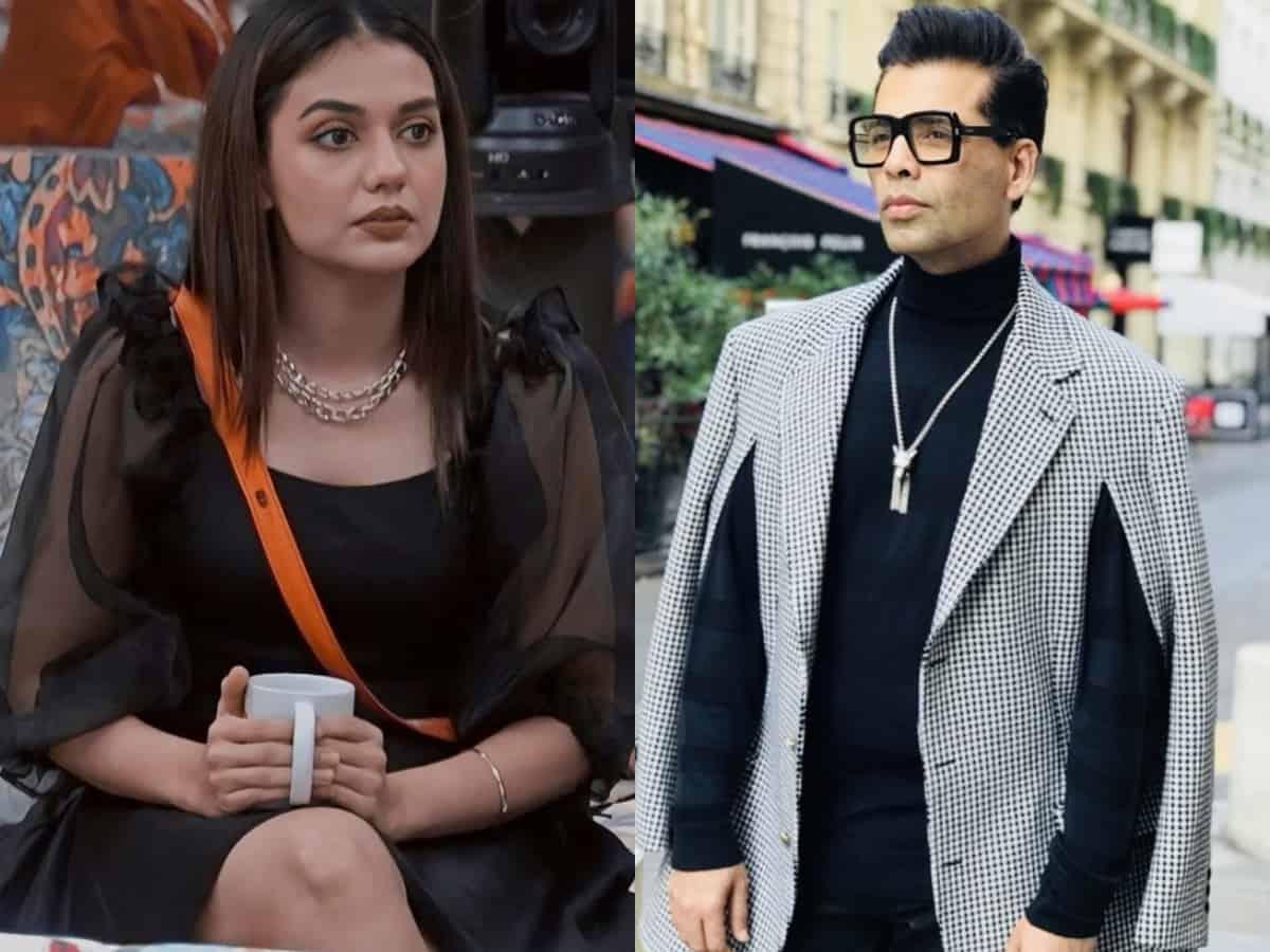 """""""You consider yourself as king of Bollywood,"""" Divya Agarwal hits out at Karan Johar"""