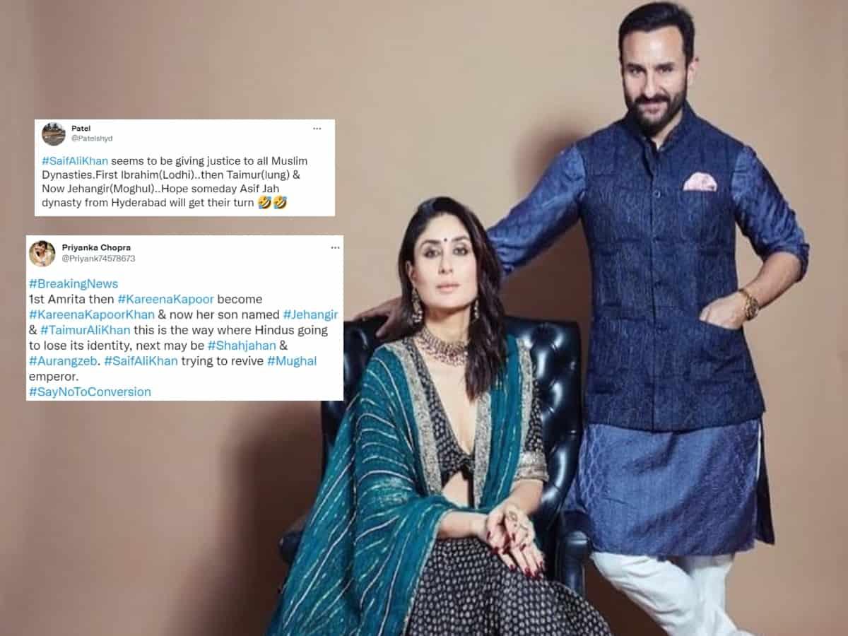 'Reviving Mughal Empire': Saif-Kareena trolled yet again over son's name