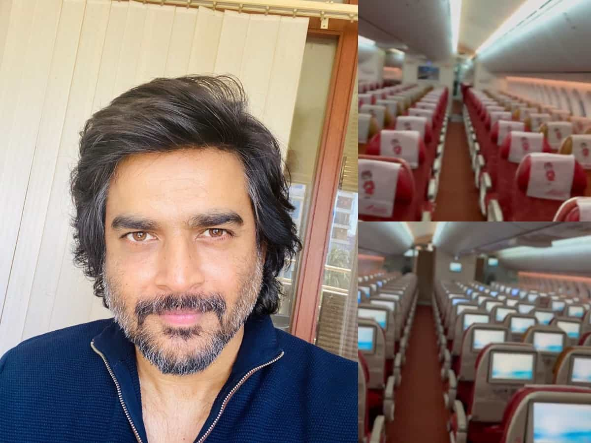Madhavan is 'only passenger' in a flight to Dubai – Watch video
