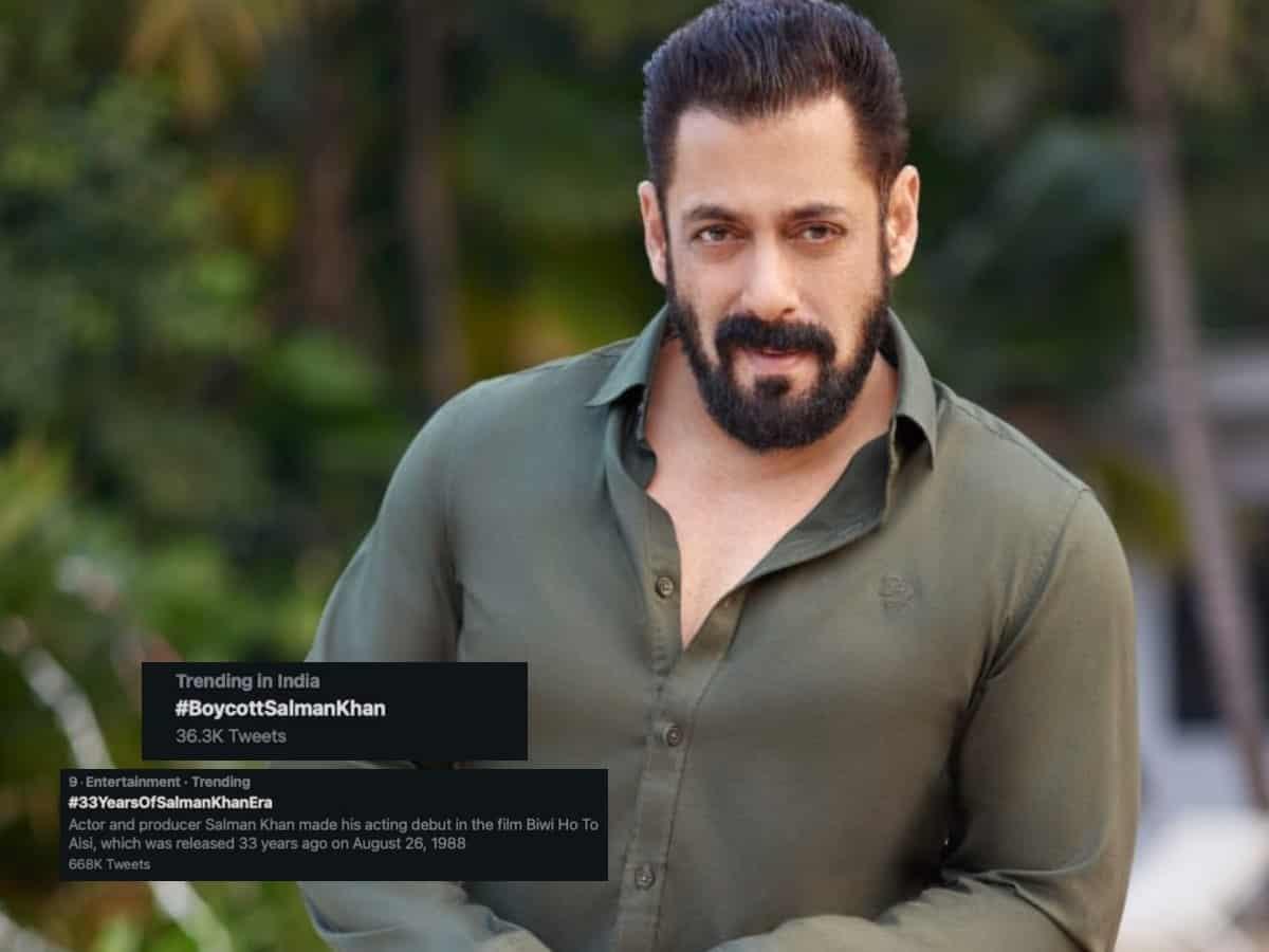'Boycott Salman Khan' trends on Twitter as actor clocks 33 years in Bollywood