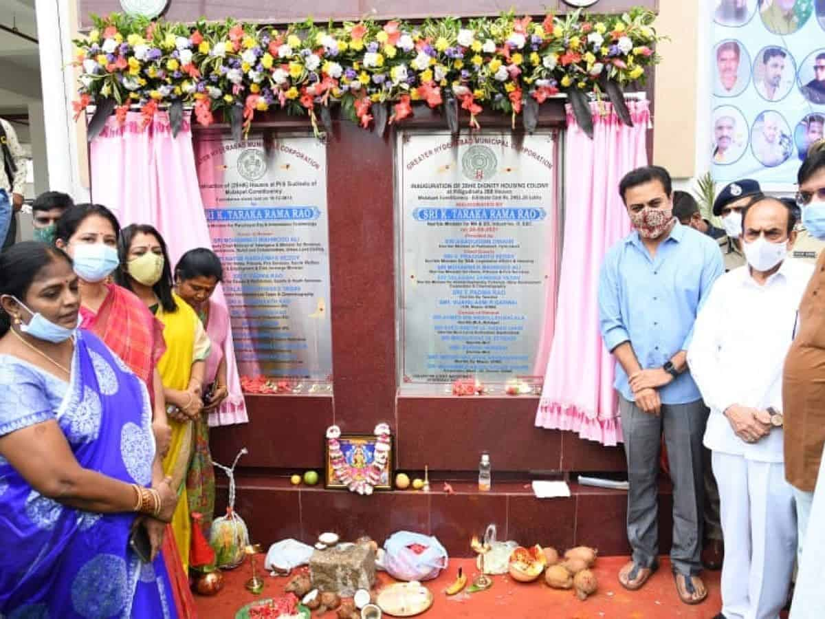 KTR inaugurates 288 flats under 'dignity housing scheme' in Hyd