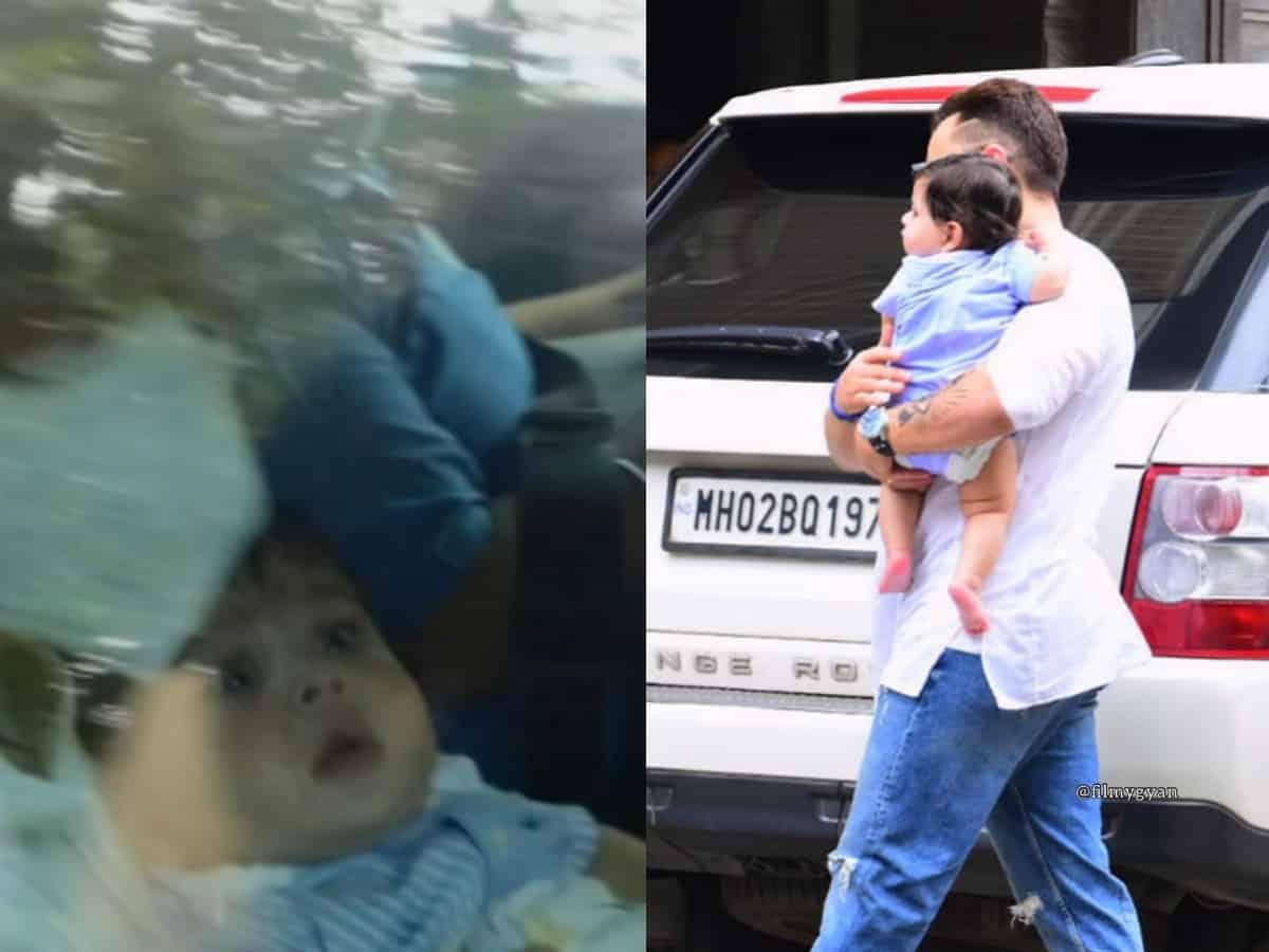 Kareena-Saif's son Jehangir faces paparazzi for the first time [Photos]