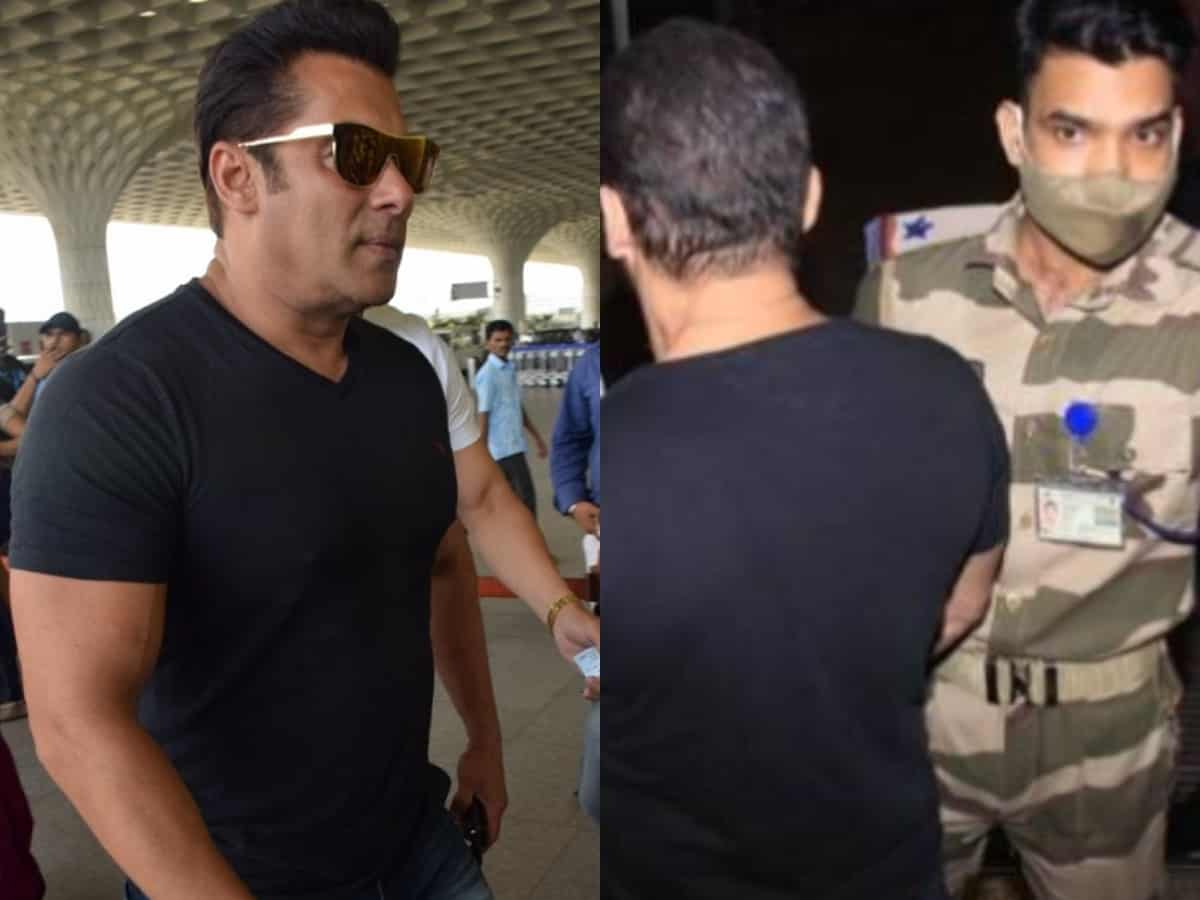 Salman Khan stopped by CISF officer at airport – Viral video