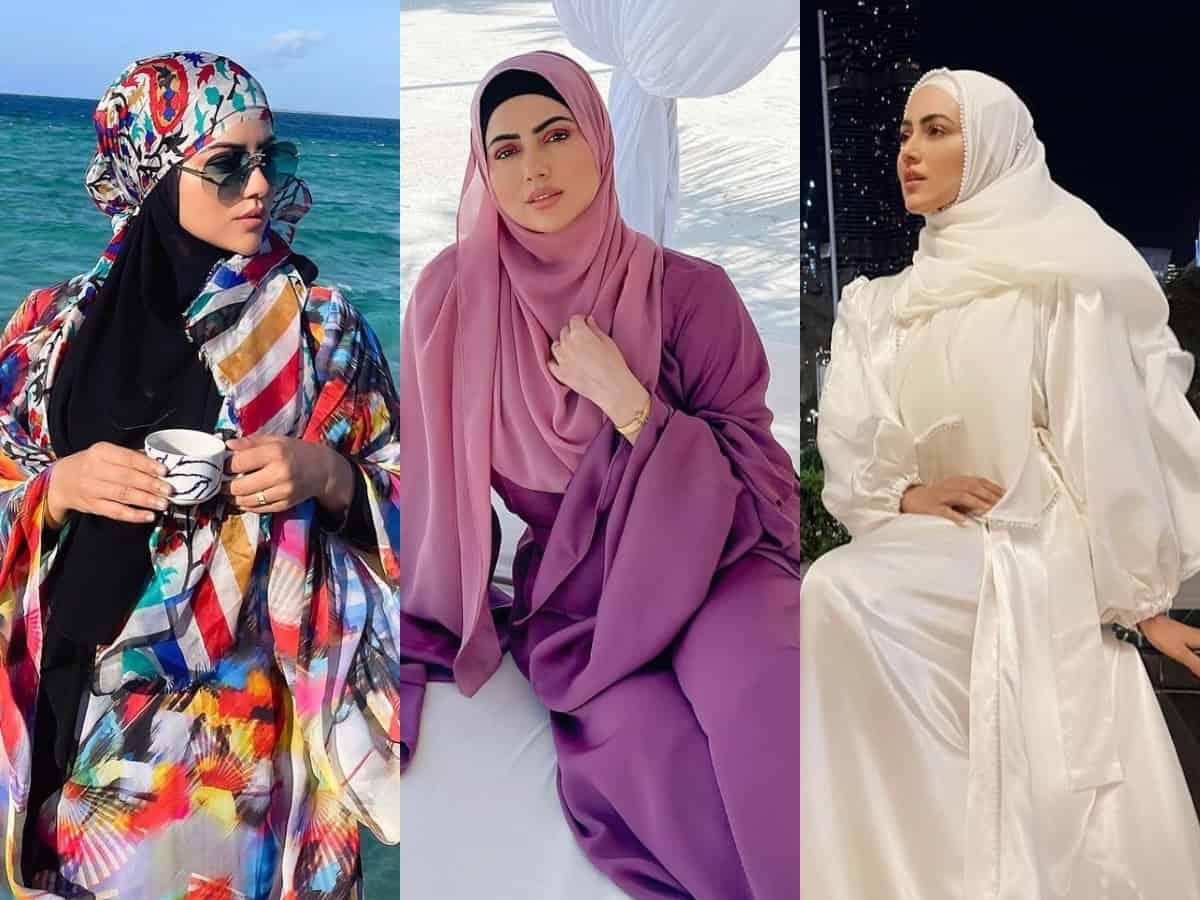 Sana Khan and her 10 stunning abayas [PHOTOS]