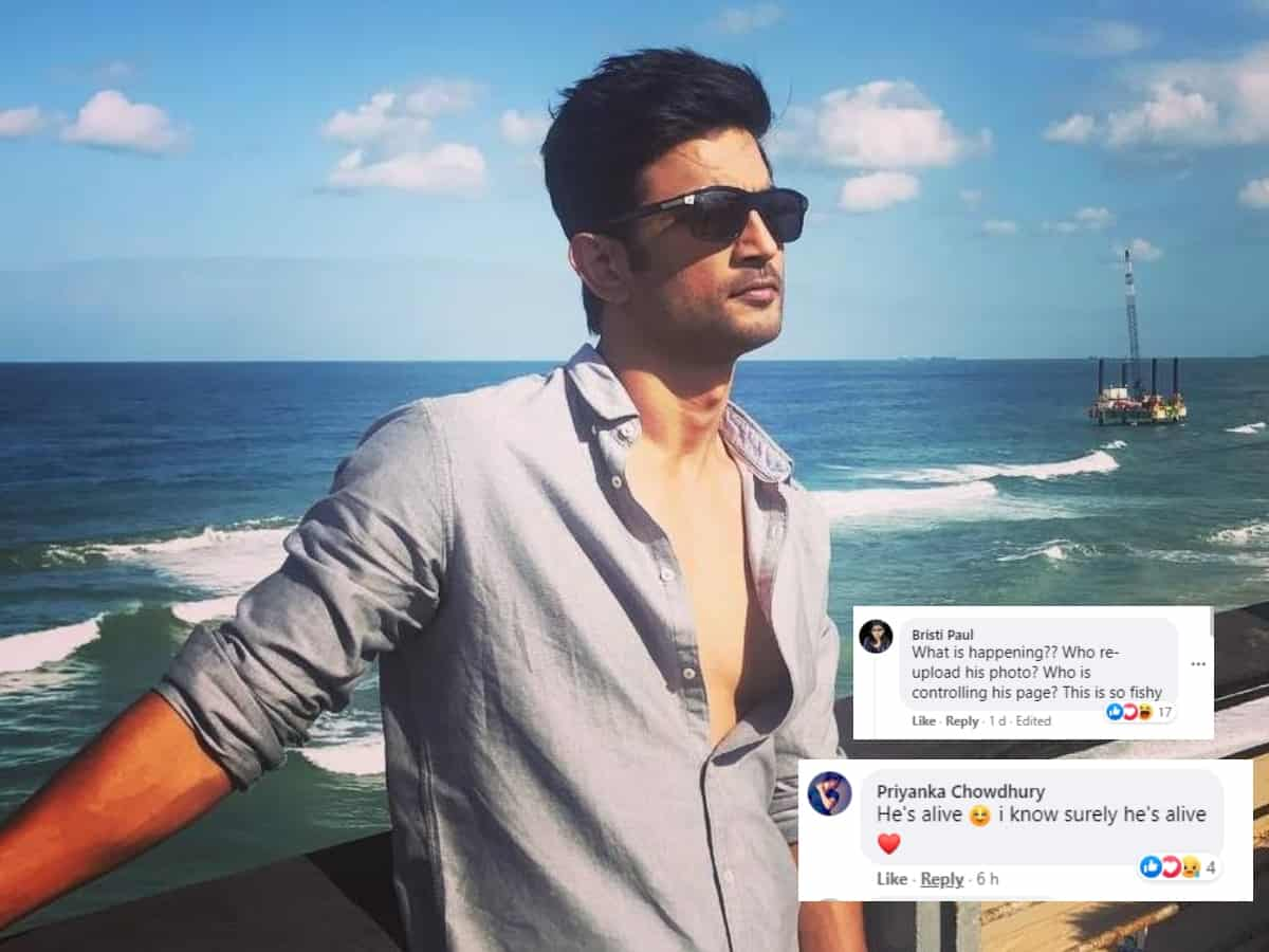 Sushant's mysterious facebook updates shock fans: 'He is alive'