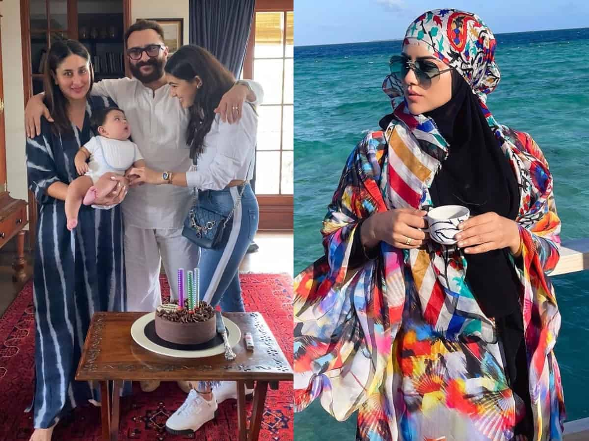 Trending pics: Sana Khan's postcards from Maldives, Sara's wishes for her 'Abba' Saif & more