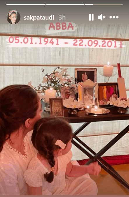Soha, Sharmila offer duas Mansoor Ali Khan's grave [Photos]