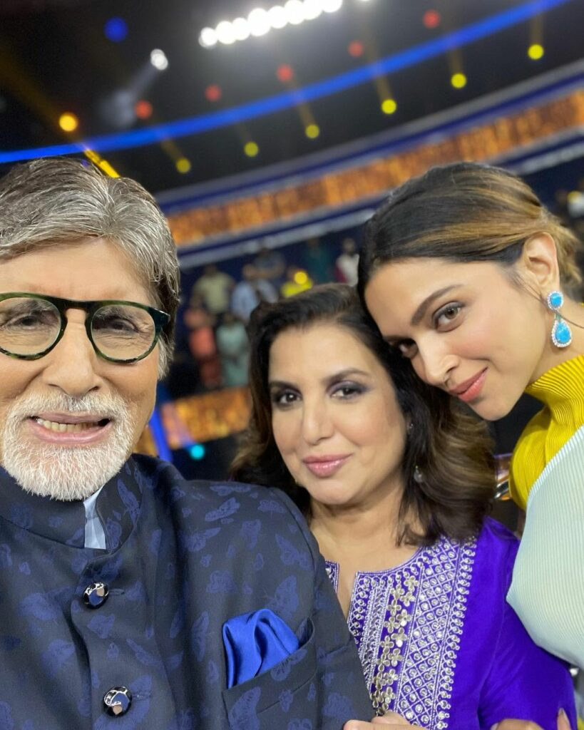 Farah Khan shares picture from KBC sets featuring Amitabh Bachchan, Deepika Padukone