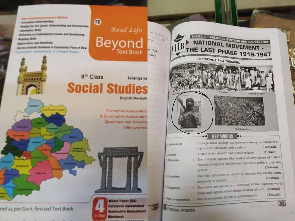 Teaching Islamophobia: Telangana textbook shows image of 'terrorist' holding Quran