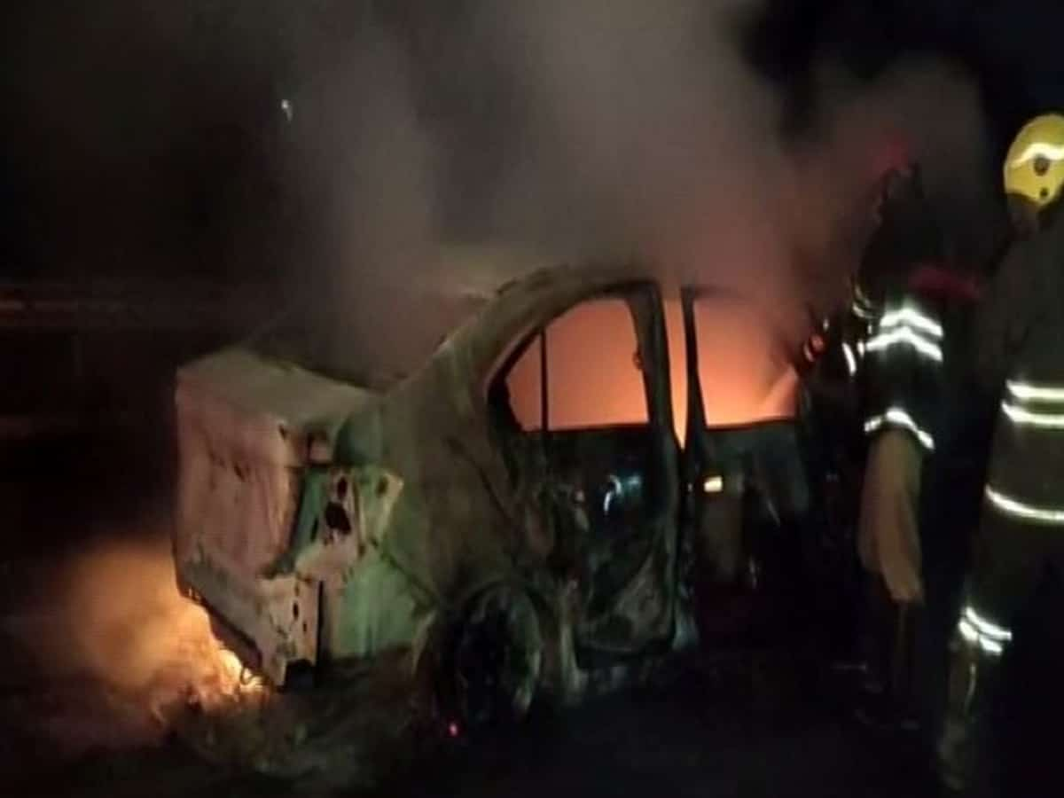 Telangana: Man charred to death after car catches fire