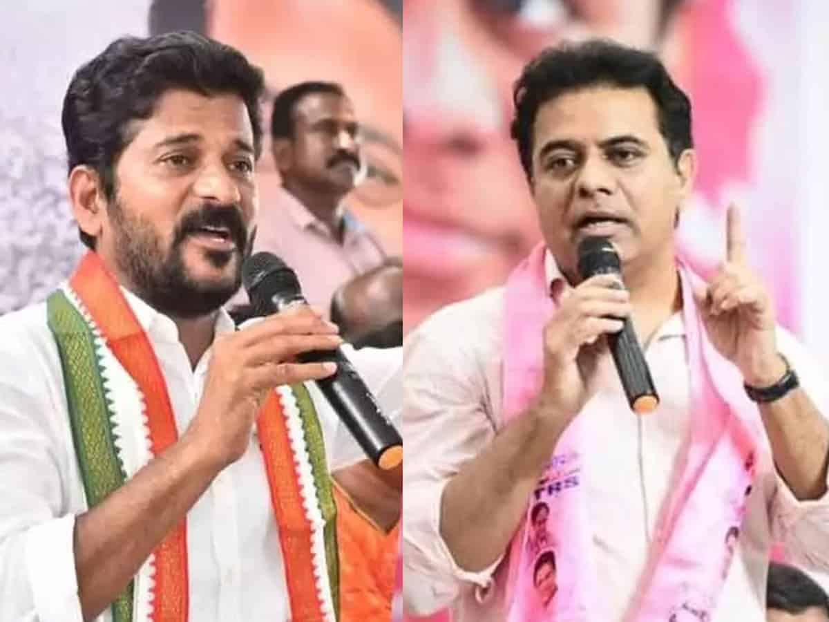 War of words on public display: KTR calls Revanth a 'thug' and Revanth says KTR is a 'scumbag'