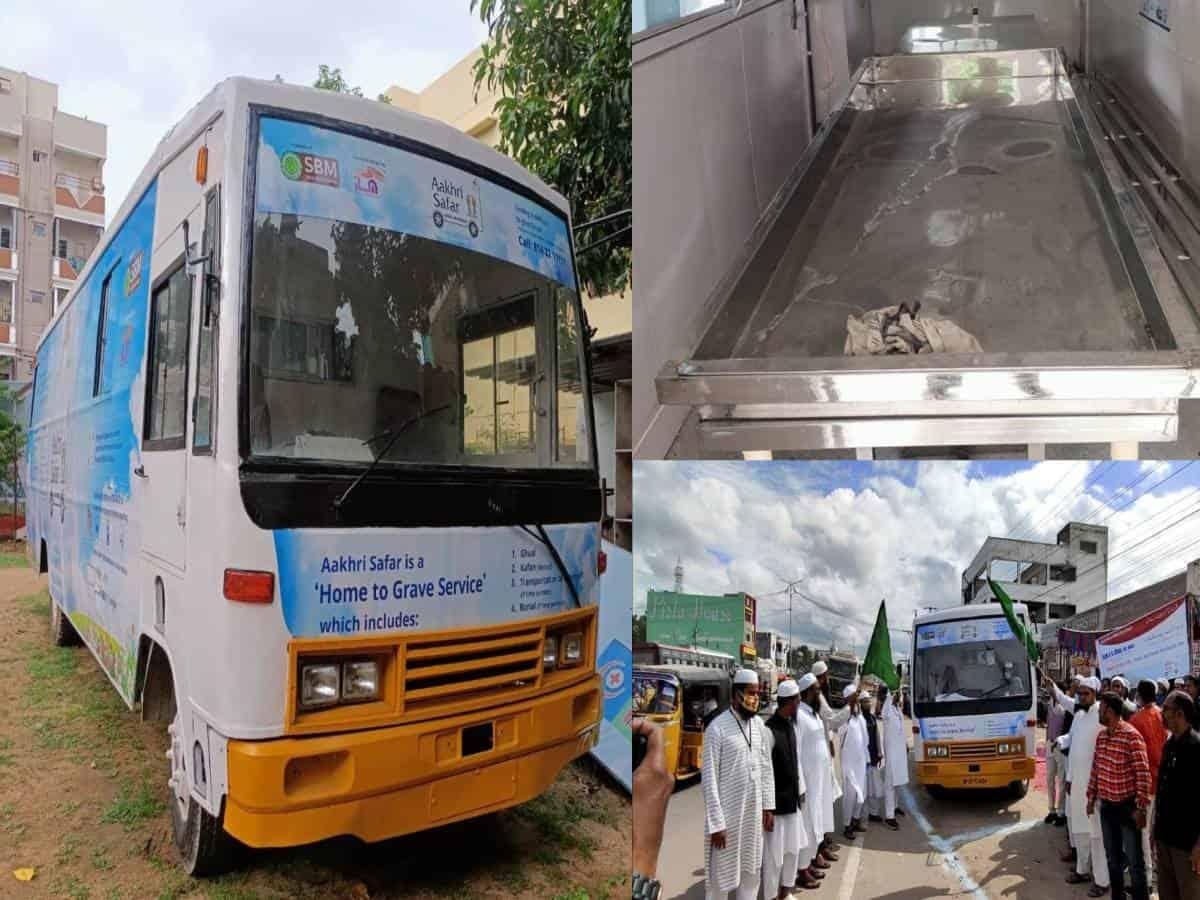 Hyderabad: SBM inaugurates 'Mobile Ghusl vehicles' for last rites