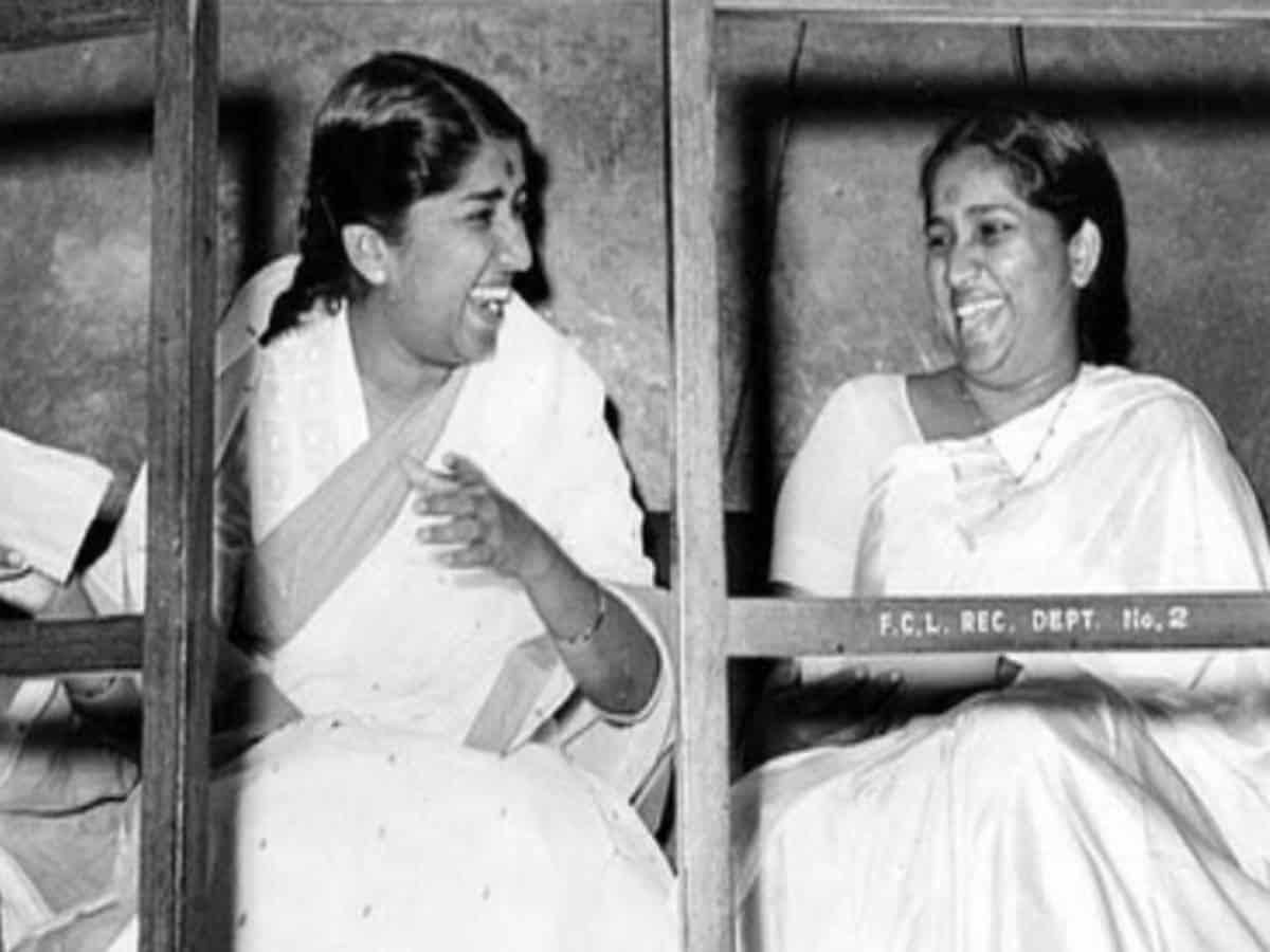 Lata Mangeshkar shares sweetest throwback picture on Asha Bhosle's birthday