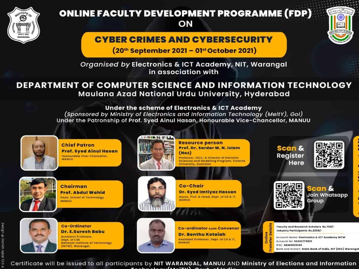 Hyderabad: 10-day online faculty development program at MANUU