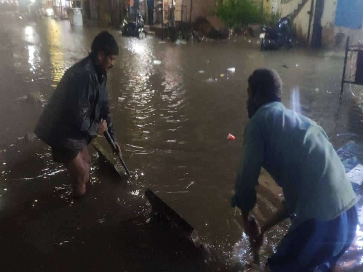 Man feared washed away as heavy rains pound Hyderabad