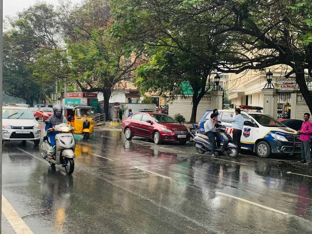 Rain lashes Hyderabad, more expected in next 72 hours