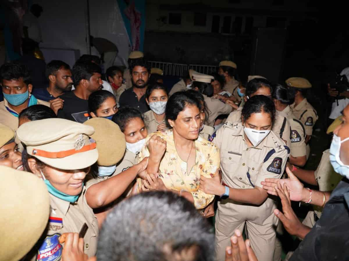 Hyderabad police foil Sharmila's march for justice