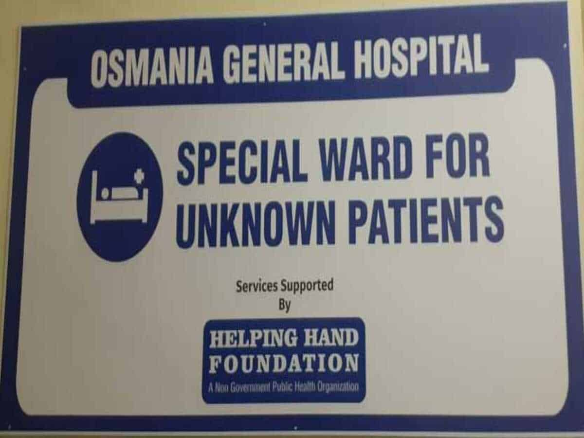 Osmania Hospital's new ward for unknown patients is a boon for the homeless