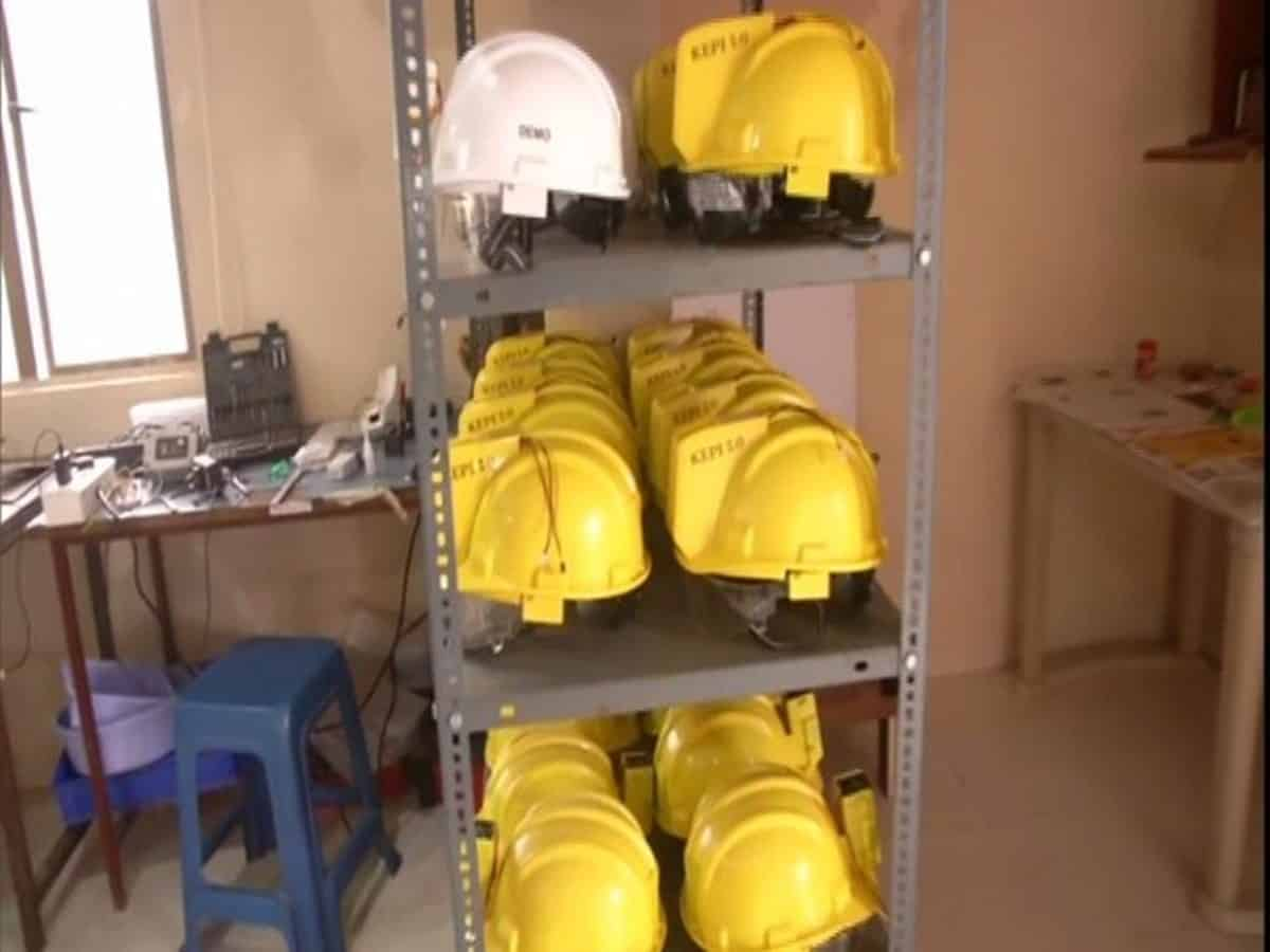 Hyderabad-based company making AC helmets for industrial workers