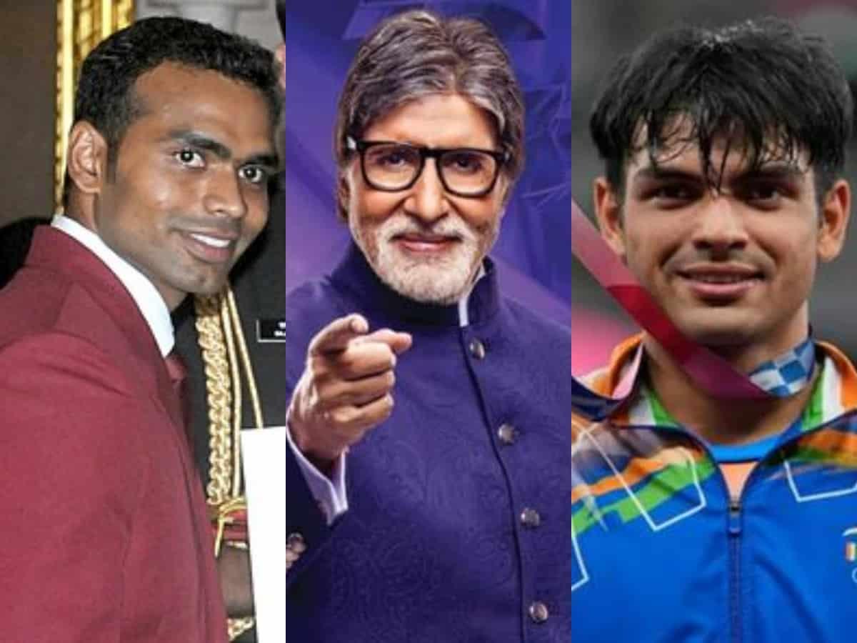 Neeraj Chopra, PR Sreejash to appear on KBC 13