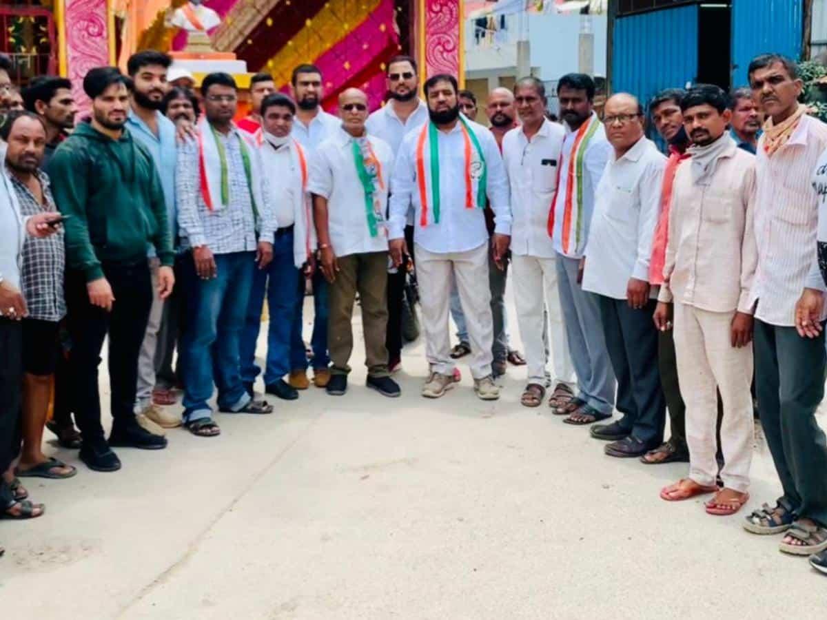 Congress minority leader Osman Bin Mohammed creates awareness on Dalit Bandhu Scheme