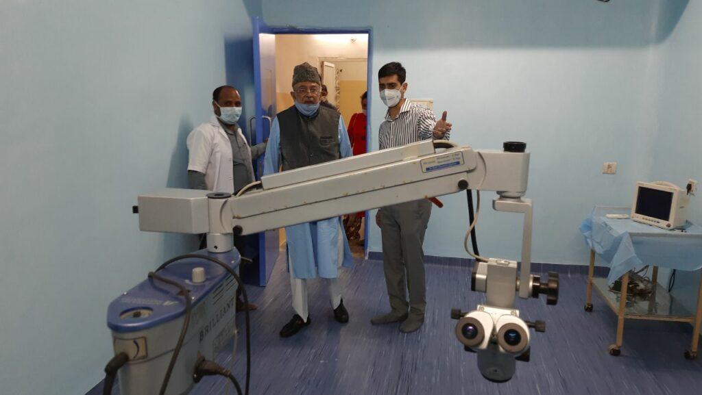 Zahid Ali Khan inaugurates new operation theatre in Abid Ali Khan Eye Hospital