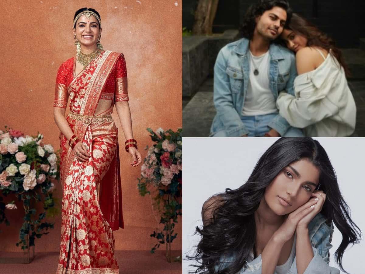 Trending pics: Samantha turns bride, Janvhi Kapoor with bf, Salman Khan's niece Alizeh & more