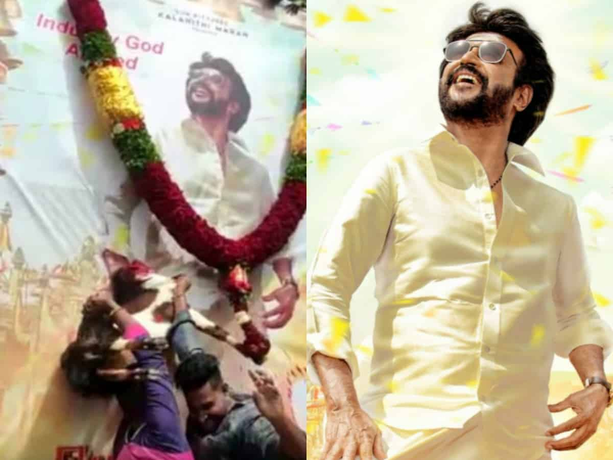Goat slaughtered for Rajnikanth's Annaatthe first look- fan clubs call it 'obnoxious act'