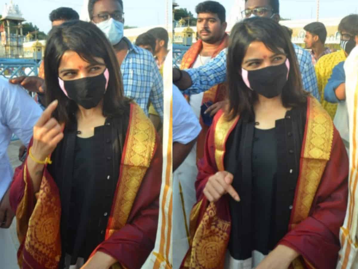 Samantha's firm reply to reporter on divorce rumours at Tirupati temple goes viral [Video]