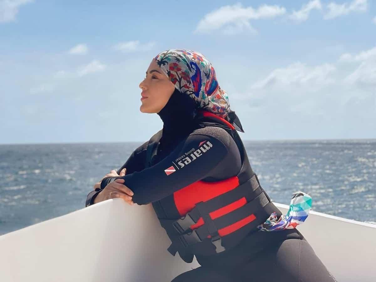 Fans stunned as Sana Khan goes snorkeling in hijab [Video]
