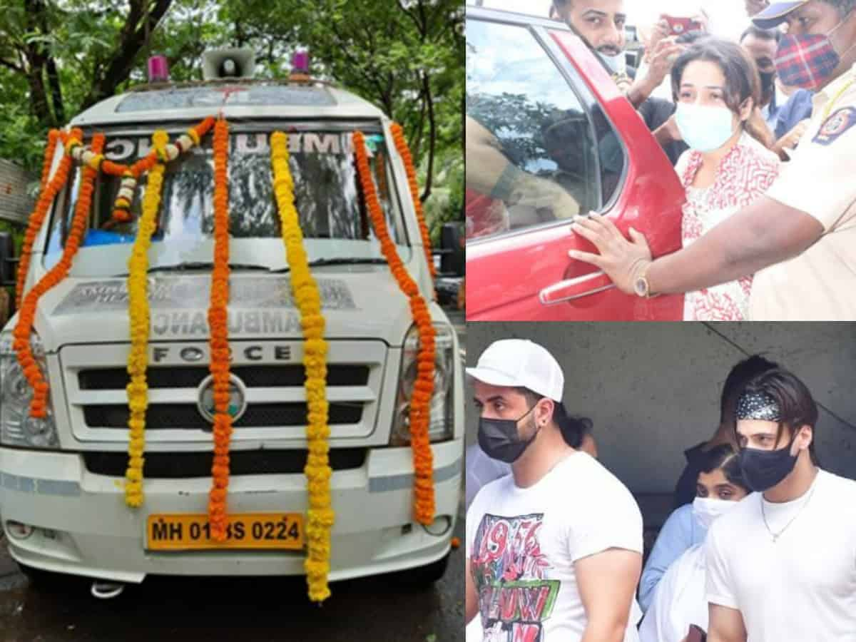 Photos and videos from Sidharth Shukla's final rites