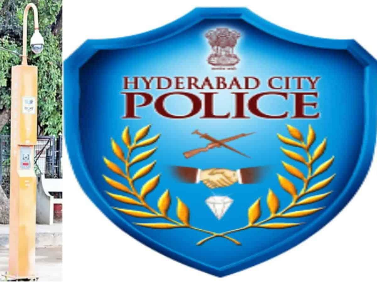 Installation of SOS poles, a unique initiative of Hyderabad Police